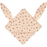 Organic Pima Cotton Strawberries Hooded Swaddle