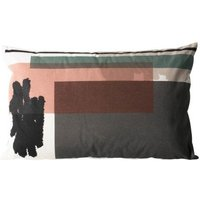 Colour Block ndeg4 Organic Cotton Cushion With Removable Cover