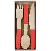 Wooden Cutlery - Set of 24