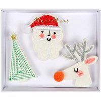 Christmas Brooches - Set of 3