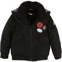 Badge Sherpa Lined Down Jacket