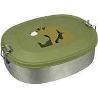 Maureen Van Der Hout Stainless Steel Brown Bear Lunchbox