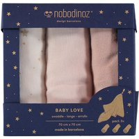 Baby Love Cotton Swaddles - Set of 3