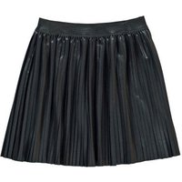 Amy Leather Effect Pleated Skirt