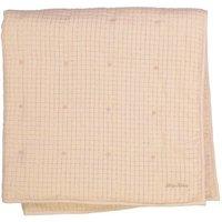 Cocon Lurex Gold Checked Blanket