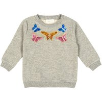 Butterfly Sequin Embroidered Sweatshirt