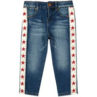 Star Satin Band Jeans