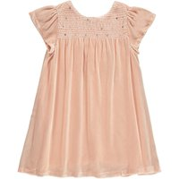 Claire Pleated Velvet Dress