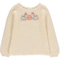 Coline Embroidered Flower Jumper
