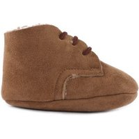 Suede Fur Lined Lace-up Slippers