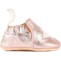 Blumoo Star Metallic Leather Slippers