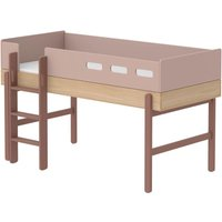 Popsicle Mid-Height Bed With Ladder 90x200cm