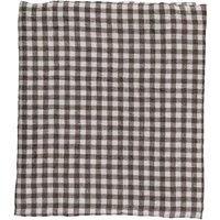 Gingham Washed Linen Duvet Cover