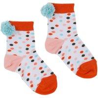 Philo Pompom Dot Socks