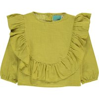 Lola Ruffled Organic Cotton Blouse