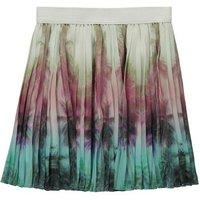 Amy Palm Tree Pleated Skirt