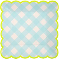Gingham Paper Plates - Set of 12