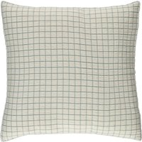 Checked Washed Linen Hemstitched Cushion