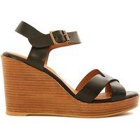 Toscane Leather Wedge Sandals