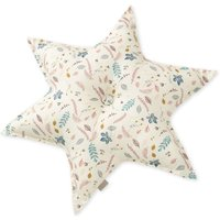 Leaves Organic Cotton Star Cushion D48cm