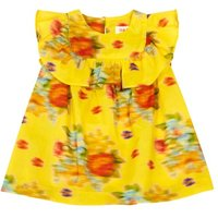 Casa Floral Ruffled Dress
