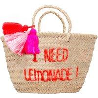 I Need Lemonade Children's Embroidered Basket