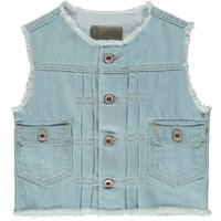 Pastel81 Frayed Sleeveless Denim Jacket