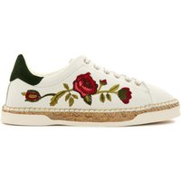 Lancry Embroidered Flower Trainers