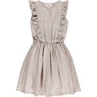 Tina Ruffled Stripe Dress with Buttons