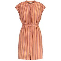 Voisine Bis Striped Dress with Removable Belt
