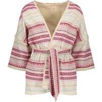 Honey Striped Kimono Jacket - Women