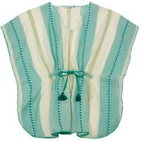 Tobago Cotton Striped Poncho