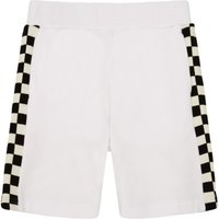 Abi Checked Band Organic Cotton Fleece Shorts