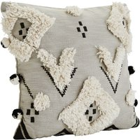 Cotton Pompom Ethnic Cushion