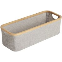 Changing Table Bamboo and Cotton Storage Basket