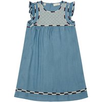 Sadie Chambray Embroidered Dress