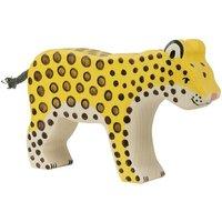 Wooden Leopard Figurine