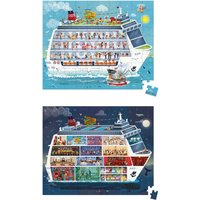 Cruise Boat Puzzle - Set of 2 Puzzles - 100 and 200 Pieces