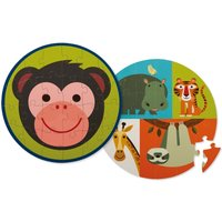 'Monkey and its Friends' Round Double-Face Puzzle - 24 Pieces