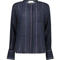 Florida Lurex and Stripes Mandarin Collar Shirt