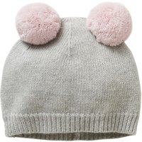 Beanie With Removable Pompons
