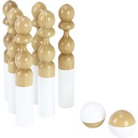 So Chic Lacquered Wood Bowling Game - 6 Pieces