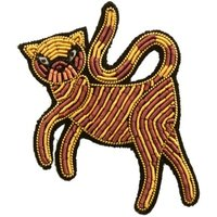 Embrodiered Greek Cat Brooch