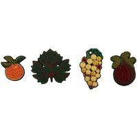 Embroidered Greek Fruit Brooch Box