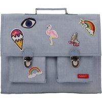 Patches Book Bag with Big Straps