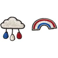 Cloud And Rainbow Brooches - Set Of 2