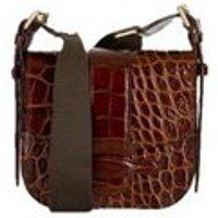 Croco Leather Mini Shoulder Bag