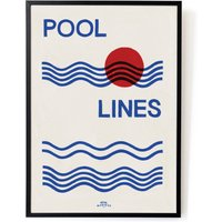 Pool Lines Art Print - Size A3