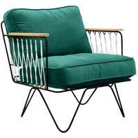 Croisette Chair - Black Resin and Velvet Chair