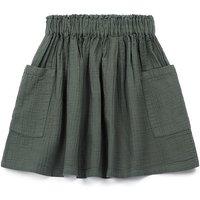 Ruche waffled skirt